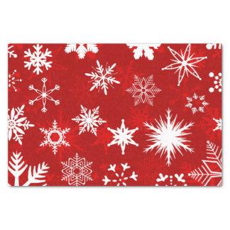Papier Mousseline Flocons de neige de fête de Noël