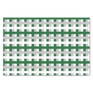 Papier Mousseline Forest Green abstrait, argent et blanc