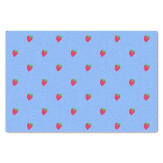 Papier Mousseline Fraises rouges