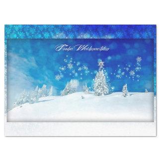 Papier Mousseline Frohe Weihnachten