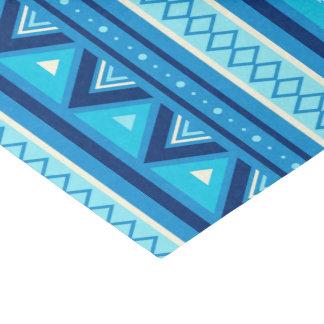 Papier Mousseline Géométrique du sud-ouest moderne, bleu et