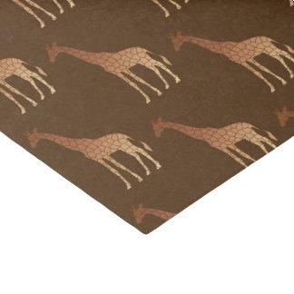 Papier Mousseline Girafe, cuivre et Brown géométriques modernes
