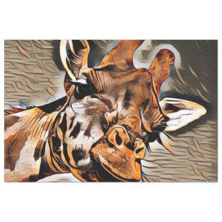 Papier Mousseline Girafe d'ArtAnimal