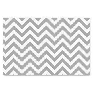 Papier Mousseline Grand motif de zigzag blanc gris-foncé de Chevron