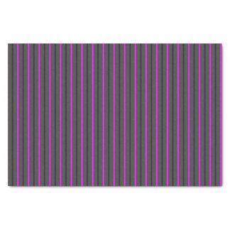 Papier Mousseline Gris moyen avec les rayures gris-foncé et roses