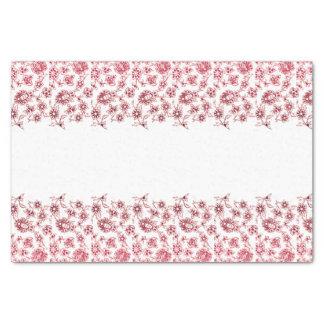 Papier Mousseline Groupes de fleurs roses
