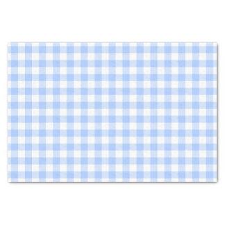Papier Mousseline Guingan bleu