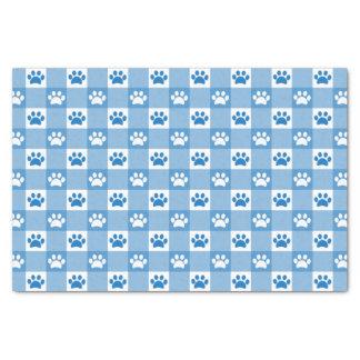 Papier Mousseline Guingan bleu avec des pattes