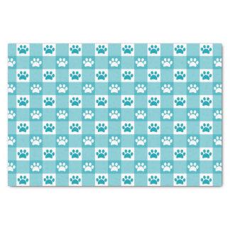 Papier Mousseline Guingan de turquoise avec des pattes
