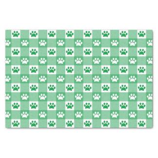 Papier Mousseline Guingan vert avec des pattes