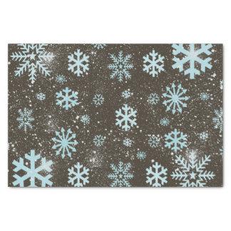 Papier Mousseline Hiver géométrique mignon de neige de flocon de