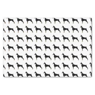 Papier Mousseline Illustration de base de race de chien de Pinscher