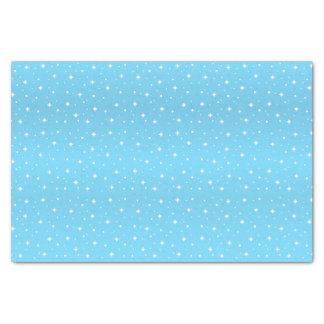 Papier Mousseline Jolies étoiles de bleus layette et de blanc
