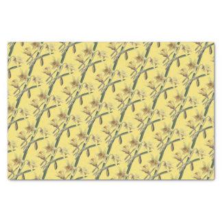 Papier Mousseline Jonquilles jaunes vintages/victoriennes