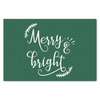Papier Mousseline joyeuses et lumineuses vacances de Noël