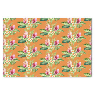 Papier Mousseline Ketmie botanique tropicale de feuille toute