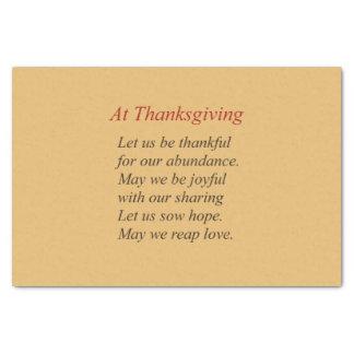 Papier Mousseline La chute colore le poème de thanksgiving