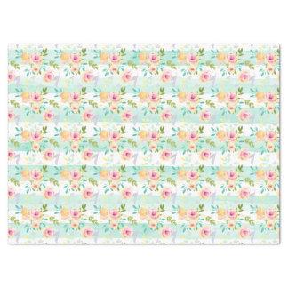 Papier Mousseline La menthe barre chic floral