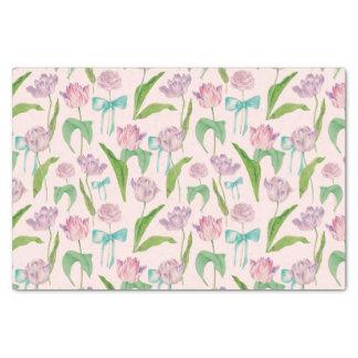 Papier Mousseline La tulipe fleurit l'illustration