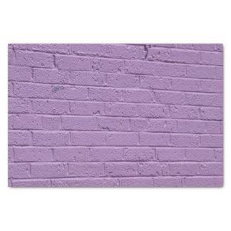 Papier Mousseline Lavande sur la brique
