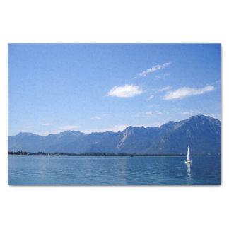 Papier Mousseline Le beau Lac Léman