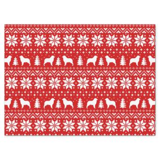 Papier Mousseline Le berger australien silhouette le motif de Noël