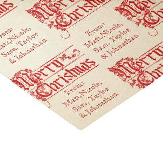 Papier Mousseline Le Joyeux Noël vintage de le personnalisent fait