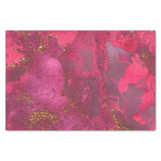 Papier Mousseline Le rose et rougissent rose rose de marbre de
