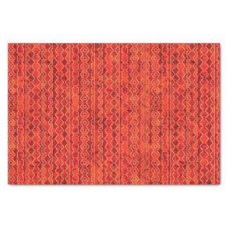 Papier Mousseline Le rouge ombrage les rayures géométriques