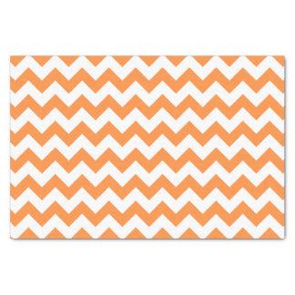Papier Mousseline Le zigzag orange barre le motif de Chevron
