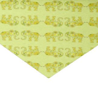 Papier Mousseline L'éléphant fleurit le jaune