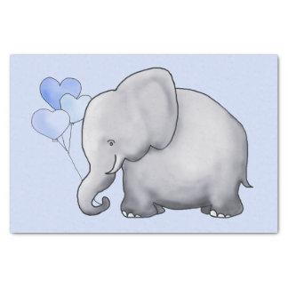 Papier Mousseline L'éléphant mignon avec le coeur monte en ballon la
