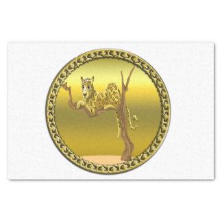 Papier Mousseline léopard repéré par bande dessinée de brun jaunâtre