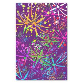 Papier Mousseline Les feux d'artifice d'arc-en-ciel de papier de