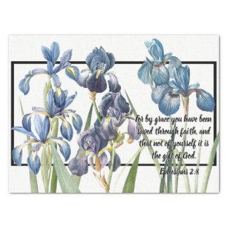 Papier Mousseline Les fleurs bleues d'iris ont sauvé le papier de