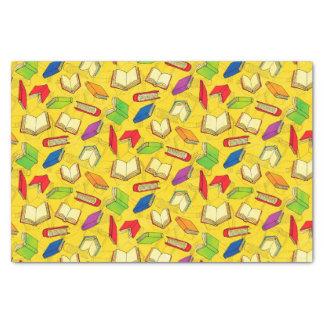 Papier Mousseline Les livres modèlent sur le jaune