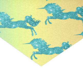 Papier Mousseline Licorne de parties scintillantes d'Aqua