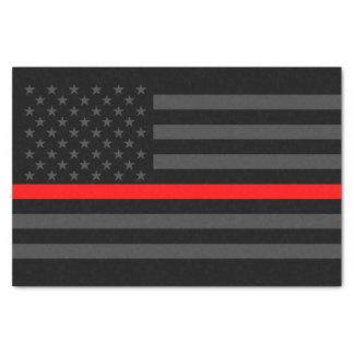 Papier Mousseline Ligne rouge mince symbole classique de drapeau