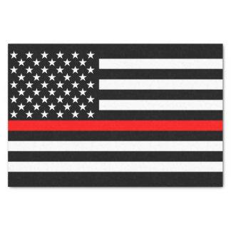 Papier Mousseline Ligne rouge mince symbole commémoratif de drapeau
