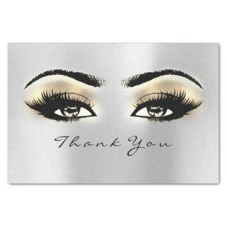 Papier Mousseline L'or de gris argenté rougissent des yeux de Merci