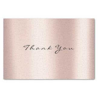 Papier Mousseline L'or de rose de rose rougissent événement de Merci
