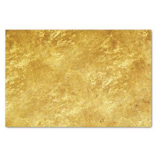 Papier Mousseline L'or et le jaune ont plaqué le motif de marbre