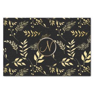 Papier Mousseline L'or noir part de l'initiale chic de lettre de
