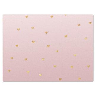 Papier Mousseline L'or rougissent les coeurs roses d'Ombre