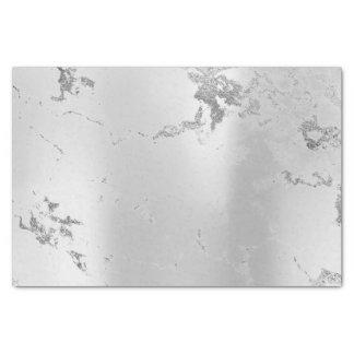 Papier Mousseline Lux de marbre métallique minimal abstrait de gris