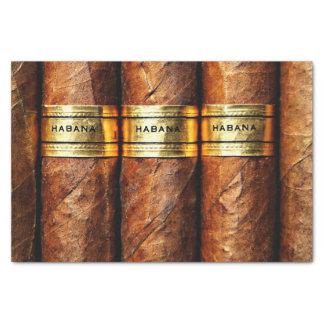 Papier Mousseline Luxe cubain de fumée de club de cigares de Habana