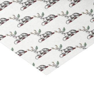 Papier Mousseline Mâle de cerfs communs avec l'emblème héraldique de