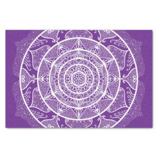 Papier Mousseline Mandala d'aubergine