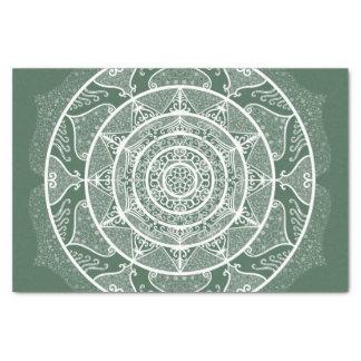 Papier Mousseline Mandala de forêt