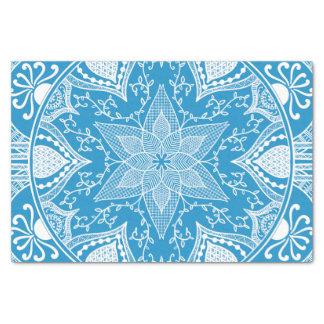 Papier Mousseline Mandala d'oiseau bleu